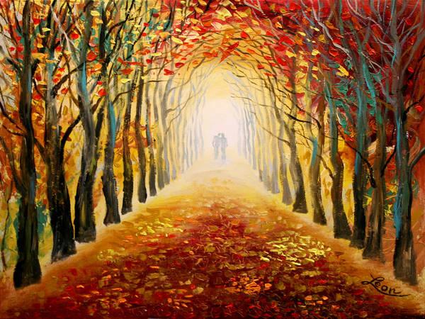 Wall Art - Painting - Love by Leon Zernitsky
