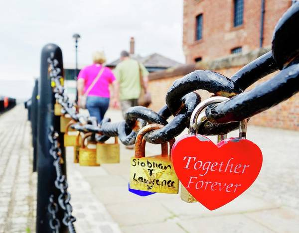 Chain Link Photograph - Love Locks by Cordelia Molloy