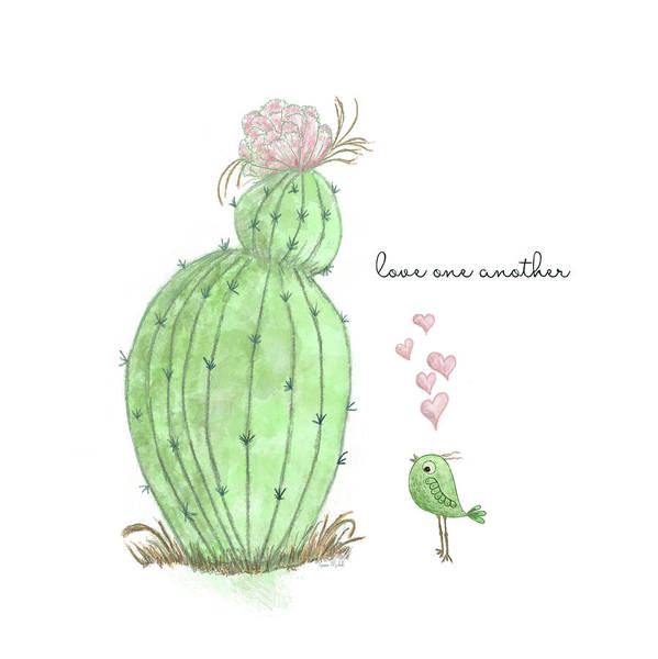 Succulent Wall Art - Painting - Love One Another by Ramona Murdock