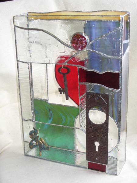 Glass Art - Love Unlocks by Karin Thue