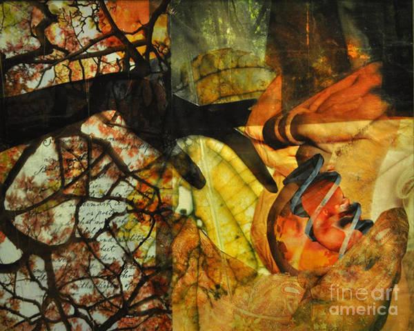 Pregnancy Mixed Media - Loving Nature by LeAndra Crystal