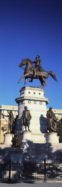 Wall Art - Photograph - Low Angle View Of A Equestrian Statue by Panoramic Images