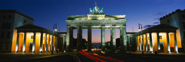 Brandenburg Gate Photograph - Low Angle View Of A Gate, Brandenburg by Panoramic Images