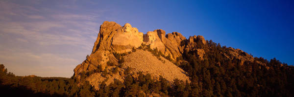 Rushmore Photograph - Low Angle View Of A Monument, Mt by Panoramic Images