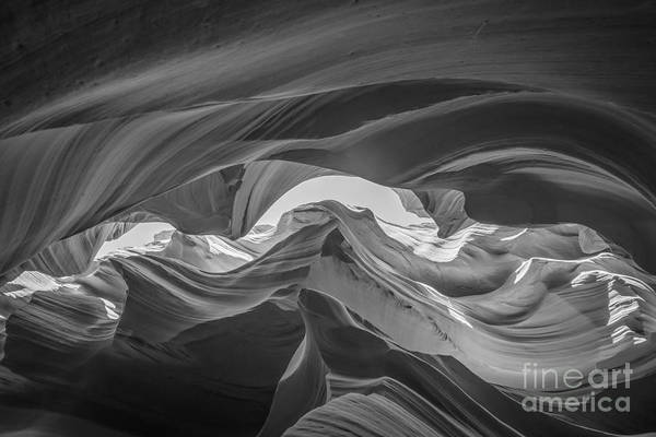 Photograph - Lower Antelope Canyon Bw by Michael Ver Sprill