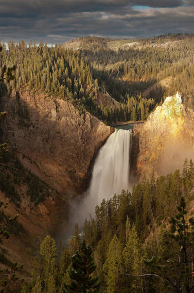 Yellowstone Canyon Photograph - Lower Falls Of Yellowstone River by Howie Garber