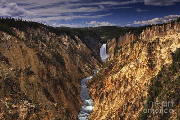Photograph - Lower Yellowstone Falls II by Mark Kiver