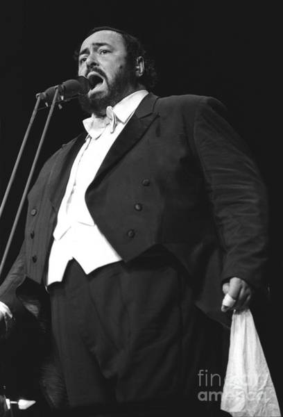 Luciano Wall Art - Photograph - Luciano Pavarotti by Concert Photos