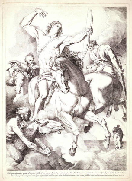 Wall Art - Drawing - Luigi Sabatelli I Italian, 1772 - 1850. The Four Horsemen by Litz Collection