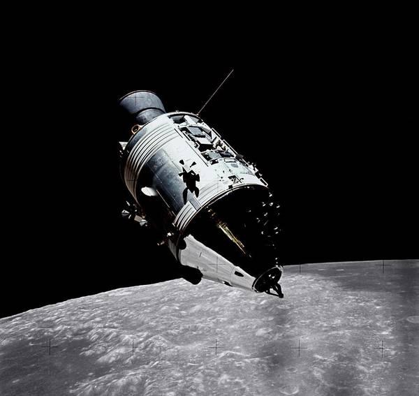 Lunar Photograph - Lunar Command Module by Nasa/science Photo Library