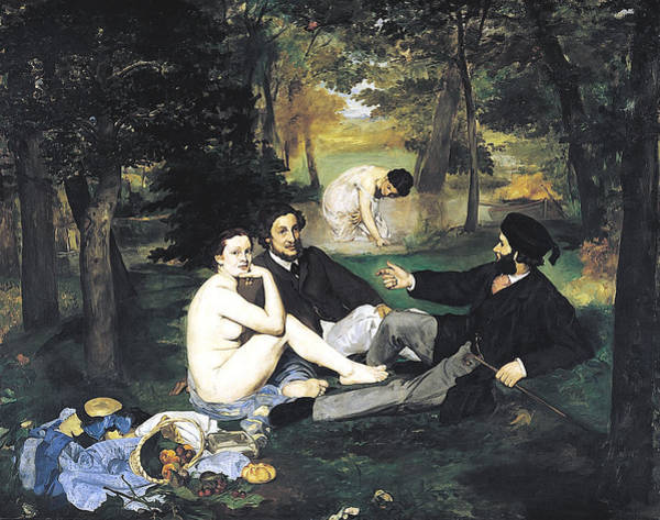 Wall Art - Digital Art - Luncheon On The Grass by Edouard Manet