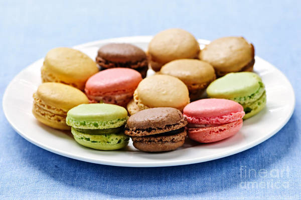 Wall Art - Photograph - Macaroon Cookies by Elena Elisseeva