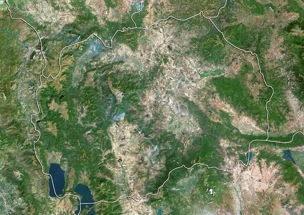 Balkan Peninsula Photograph - Macedonia by Planetobserver/science Photo Library