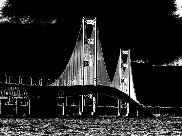 Photograph - Mackinac Bridge by Keith Stokes