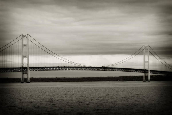 St Ignace Wall Art - Photograph - Mackinaw Bridge by Scott Hovind