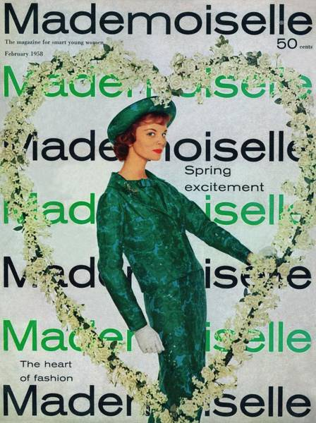 Blue Flower Photograph - Mademoiselle Cover Featuring A Model Wearing by Stephen Colhoun