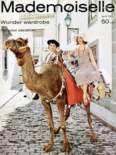 Mademoiselle Photograph - Mademoiselle Cover Featuring Model Dolores by Herman Landshoff