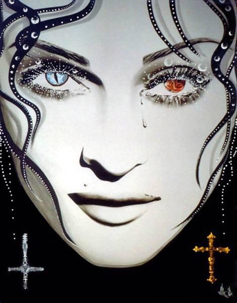Wall Art - Mixed Media - Madonna by Alicia Hayes