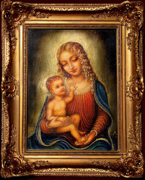 Wall Art - Painting - Madonna Beata by Ananda Vdovic