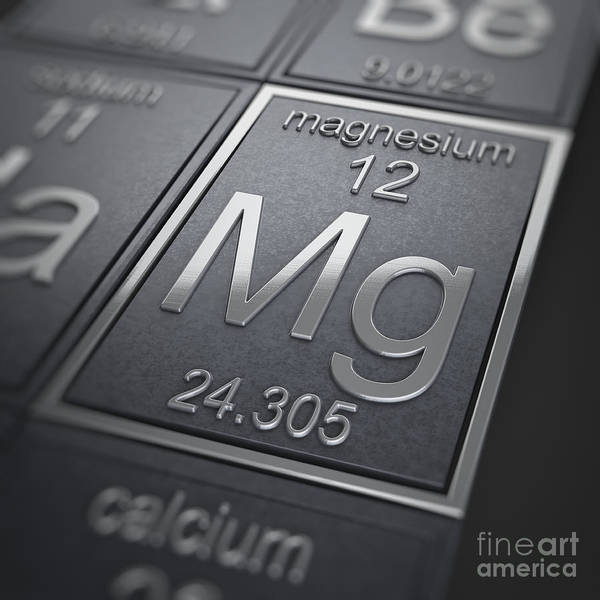 Atomic Number Wall Art - Photograph - Magnesium Chemical Element by Science Picture Co