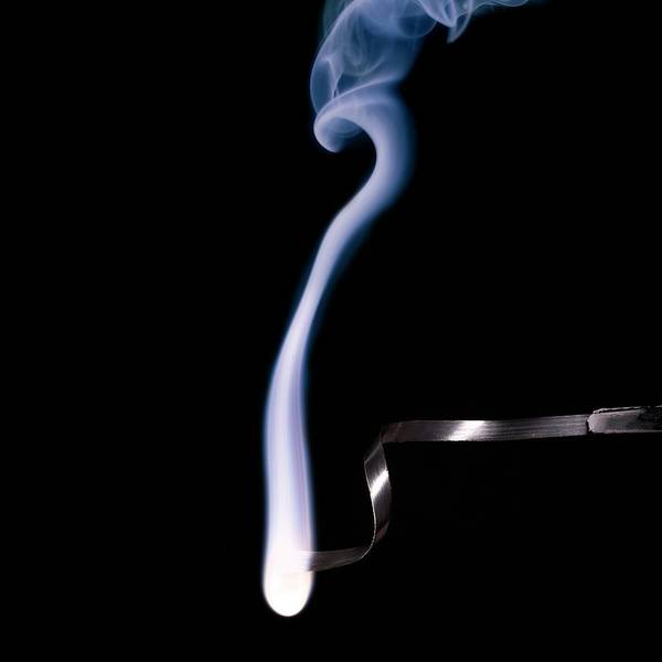 Atomic Photograph - Magnesium Ribbon Burning In Air by Science Photo Library