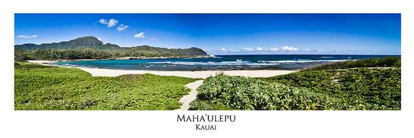 Mahaulepu Beach Photograph - Mahaulepu Beach Kauai Panorama by Roger Mullenhour