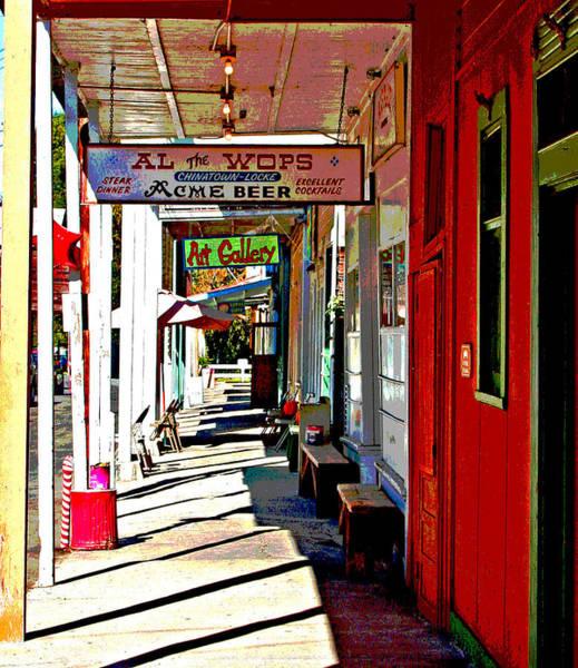 Photograph - Main Street Locke California by Joseph Coulombe