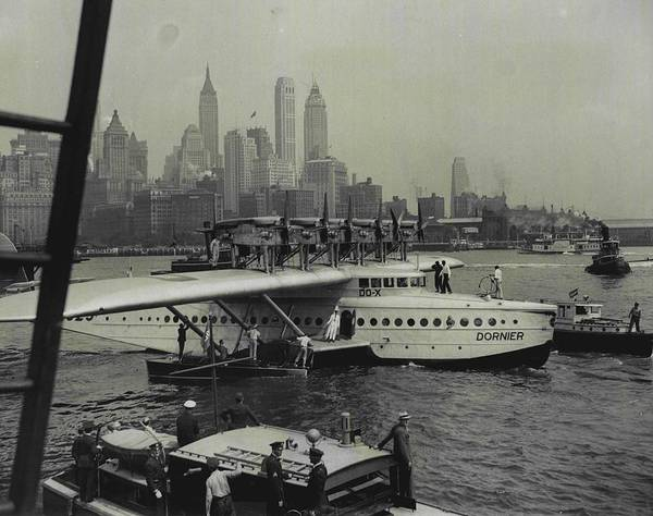 Sea Plane Photograph - Majestic Giant Of The Air by Retro Images Archive