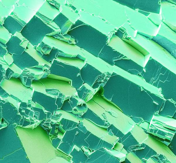 Carbonate Photograph - Malachite by Steve Gschmeissner