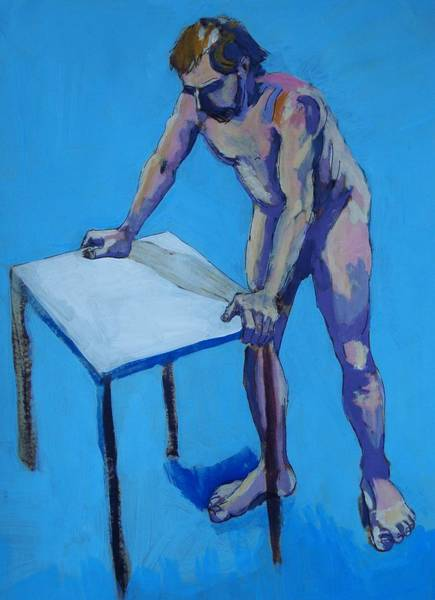 Painting - Male Nude  by Mike Jory