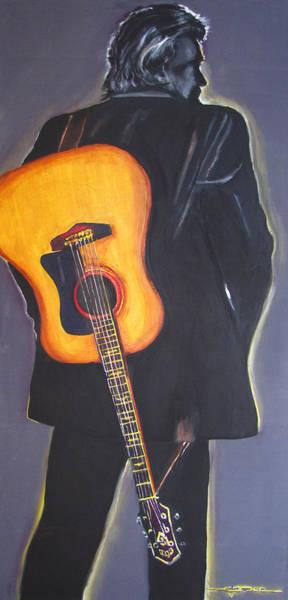 Man In Black's Back Art Print