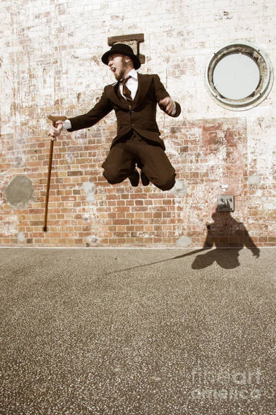 Joyous Photograph - Man Jumping For Joy by Jorgo Photography - Wall Art Gallery