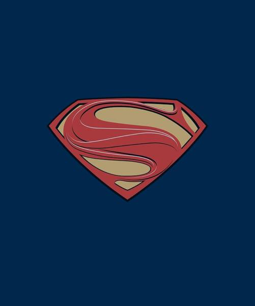 Man Of Steel Wall Art - Digital Art - Man Of Steel - New Solid Shield by Brand A
