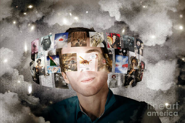 Photograph - Man Streaming Media With Cloud Server Informatics by Jorgo Photography - Wall Art Gallery