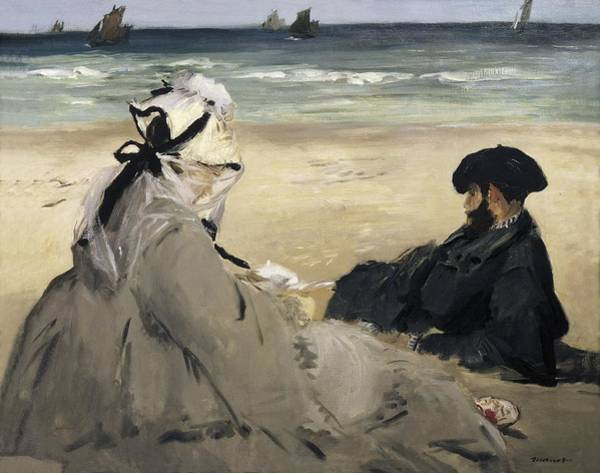 Manet Wall Art - Photograph - Manet, �douard 1832-1883. On The Beach by Everett