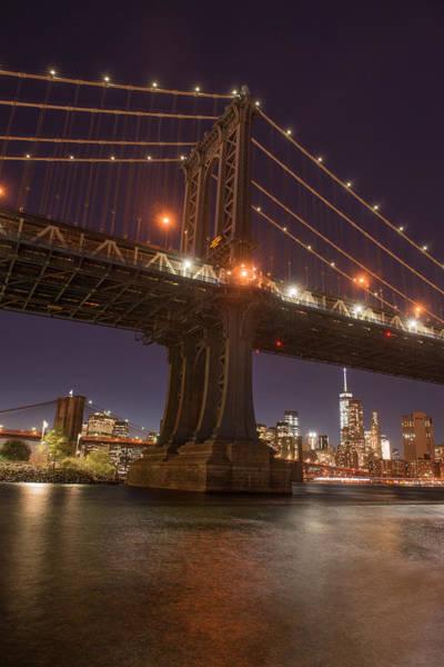 Wall Art - Photograph - Manhattan Bridge And Skyline, Brooklyn by Greg Probst