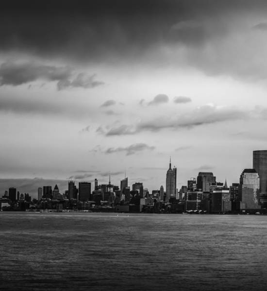 Photograph - Manhattan Skyline Left Triptych by David Morefield