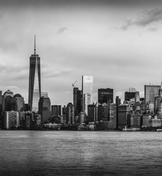 Photograph - Manhattan Skyline Middle Triptych by David Morefield