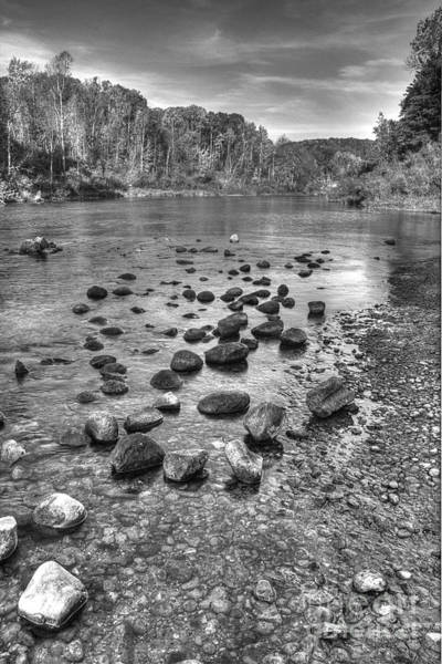 Wall Art - Photograph - Manistee River In Black And White by Twenty Two North Photography