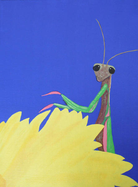 Wall Art - Painting - Mantis by Candace Shockley
