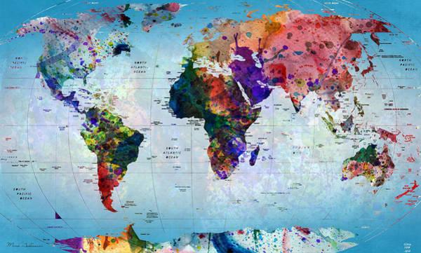 Wall Art - Photograph - map by Mark Ashkenazi