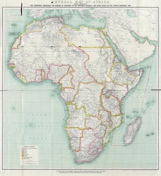 Wall Art - Photograph - Map Of Africa by Library Of Congress, Geography And Map Division