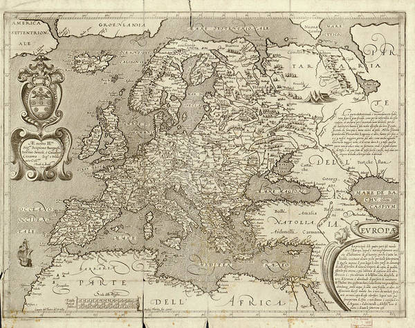 Geography Photograph - Map Of Europe by Library Of Congress, Geography And Map Division/science Photo Library