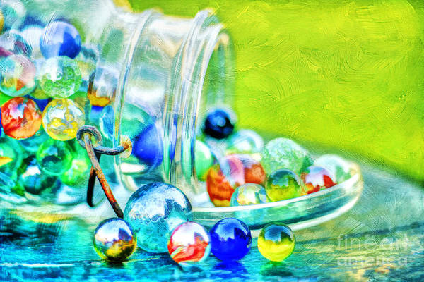 Eye Ball Photograph - Marbles by Darren Fisher