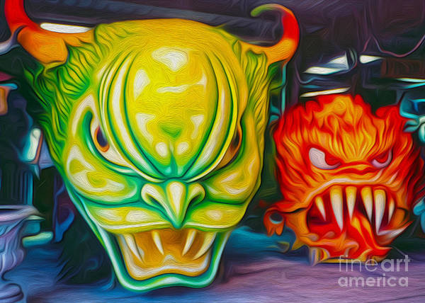 Photograph - Mardi Gras Devils by Gregory Dyer