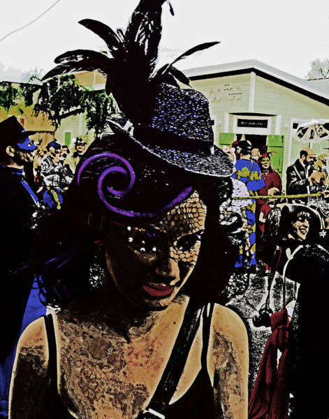 Photograph - Mardi Gras In New Orleans by Louis Maistros
