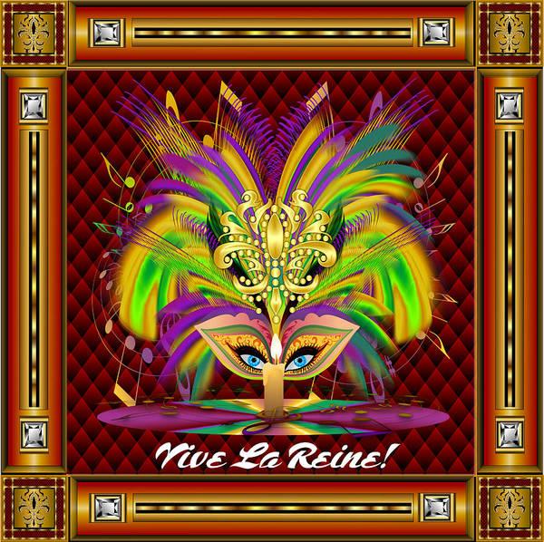 Deja Vu Digital Art - Mardi Gras Queen Style 2 Vector Sample by Bill Campitelle