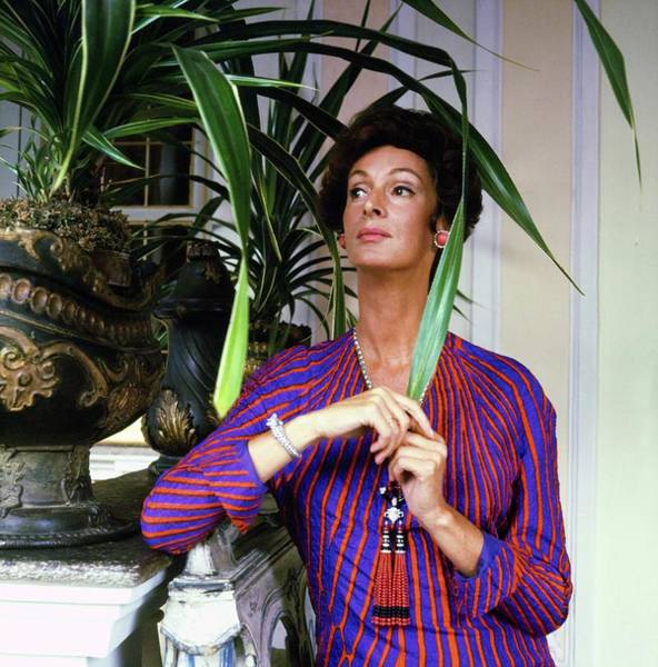 Wall Art - Photograph - Marella Agnelli At Home by Horst P. Horst