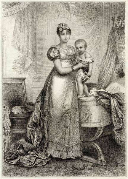 Wall Art - Drawing - Marie-louise Of Austria Second Wife by Mary Evans Picture Library