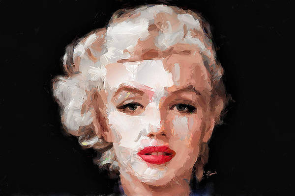 Digital Art - Marilyn by Charlie Roman